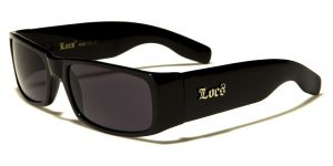 Locs Black Rectangle Men's Sunglasses